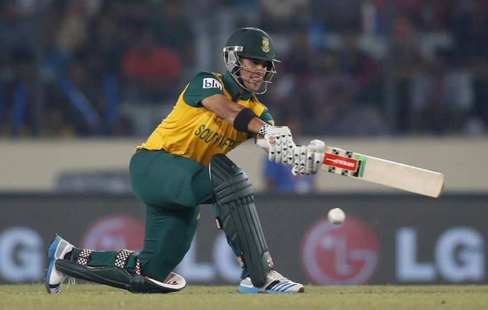 Even after the skipper departed Duminy played aggressively, hitting three sixes and a four in his 40-ball knock (AP)