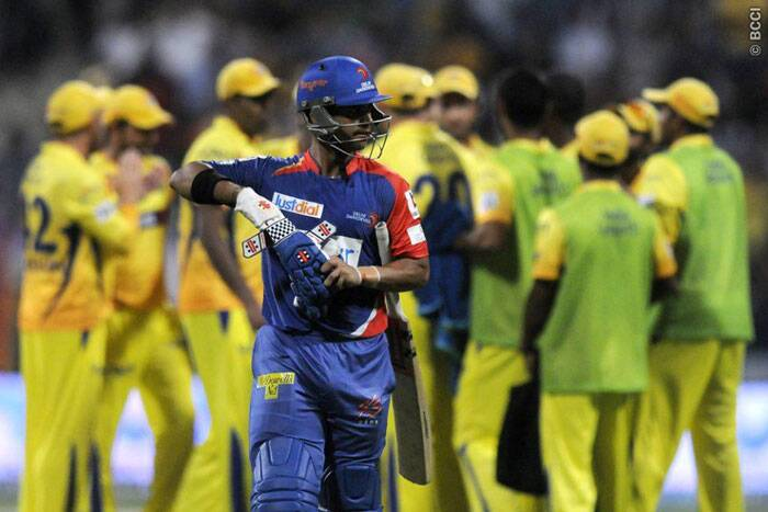 Delhi Daredevils batsman JP Duminy is dismissed by Dwayne Smith. (BCCI/IPL)