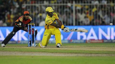 Dwayne Smith anchored the CSK chase with his 46-ball knock that was embellished with five sixes and four shots to the fence (Photo: BCCI/IPL)