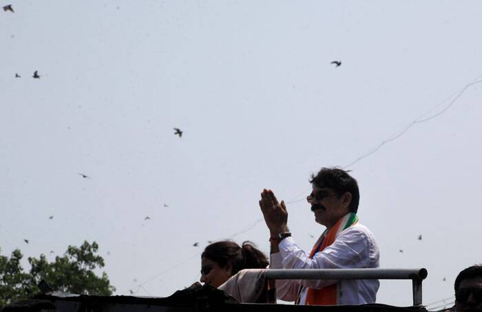 Bala Nandagaonkar is MNS candidate from south Mumbai against Congress' Milind Deora. Express Photo by Ganesh Shirsekar.