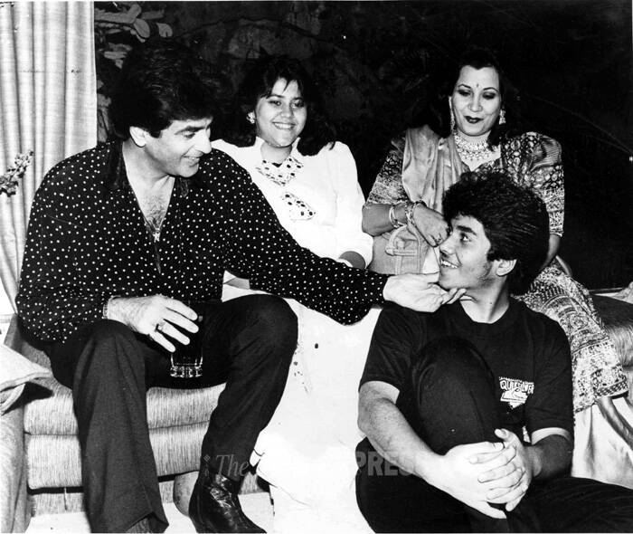 Veteran actor Jeetendra was born as Ravi Kapoor in Amritsar on April 17, 1942 to Amarnath and Krishna Kapoor, a Punjabi business family. As he turns 72 today we take a look at his journey so far and share some of his rare family pics. Take a look! (Express archive photo)