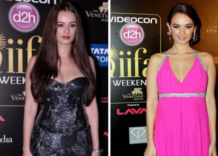 Pretty girl Evelyn Sharma opted for a black strapless Roberto Cavalli gown at Macau last year. Though she looked nice, we wish she could have styled her hair more elegantly. Evelyn didn't shy away from colour at the IIFA Rocks that year and went for a hot pink gown by Wendell Rodricks.