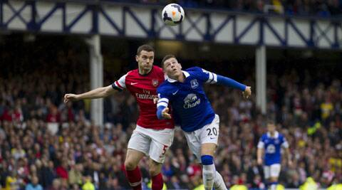 With Arsenal not playing in the EPL this weekend, Everton will move fourth with a win. (AP)