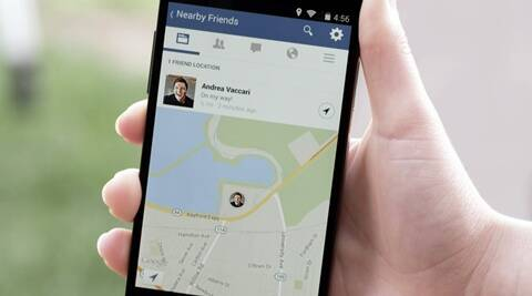 "Product image provided by Facebook shows the ""Nearby Friends"" tool"