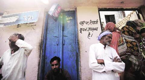 At Vinit's house in Pachanda Khurd village in Muzaffarnagar. On the left is his father's small shop, which also sells coupons for mobile phone recharges; (below) their Facebook accounts. Vinit and Jyoti got in touch more than two years ago.