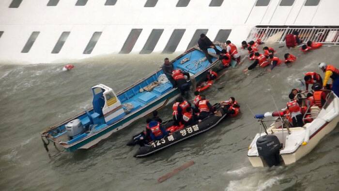 The long period of time the missing have now spent either trapped in the ferry or in the cold seawater. (AP)