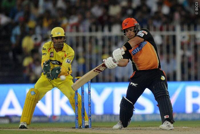 The early wickets forced Aaron Finch to change gears. The opener known for big hits was happy to rotate strike and was looking to spend time in the middle (Photo: BCCI/IPL)