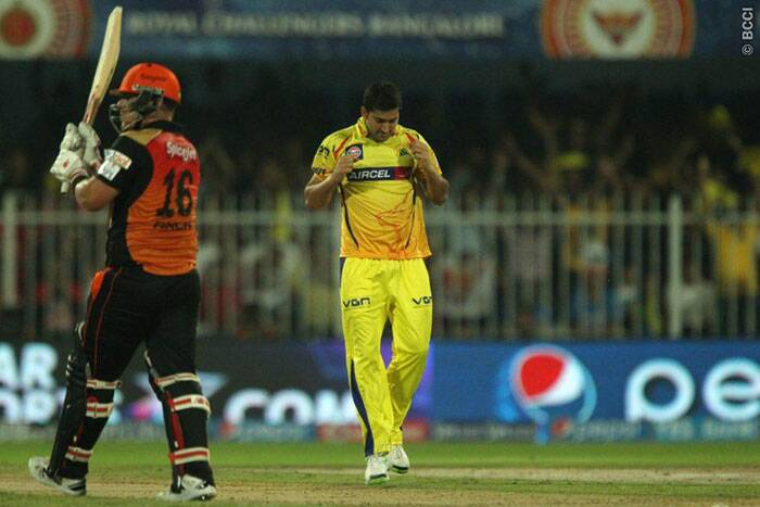 Just when the SRH wanted the aggressive right-hander to break free, Mohit Sharma castled him to put brakes to possible run flow (Photo: BCCI/IPL)