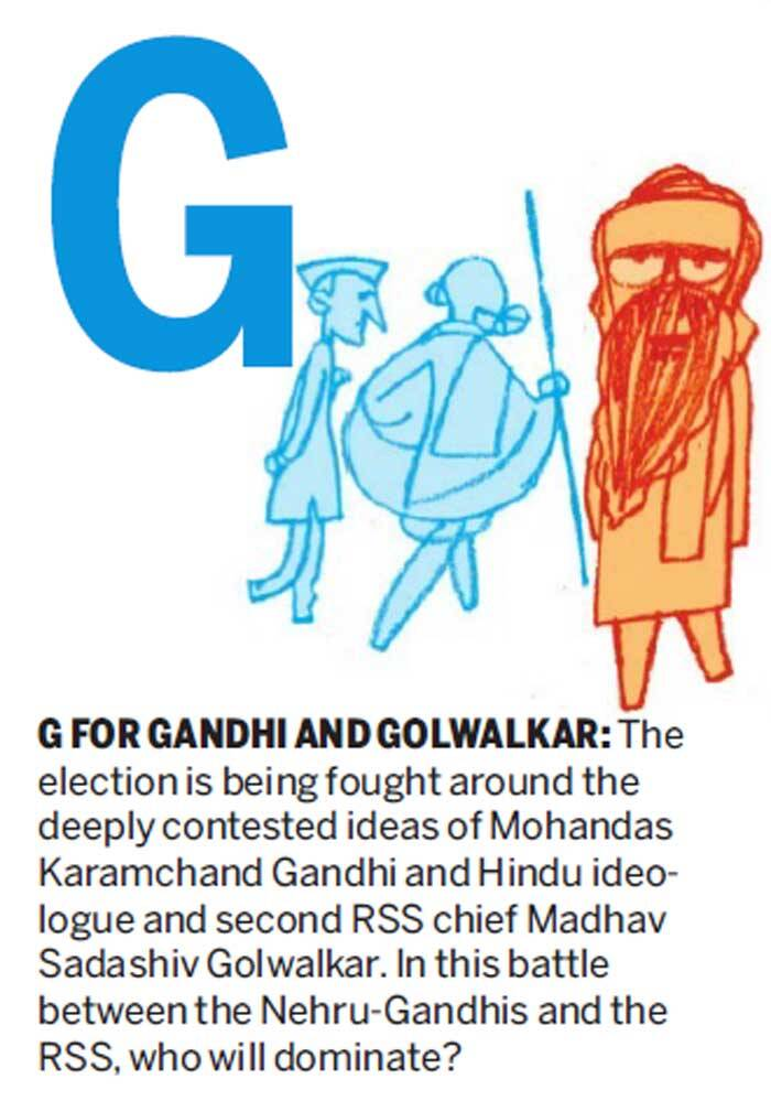 G FOR GANDHI AND GOLWALKAR
