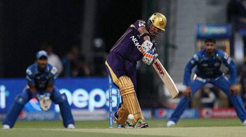 Gautam Gambhir in action during match 1 of the Pepsi Indian Premier League Season 7 between the Mumbai Indians and Kolkata Knight Riders. (IPL)