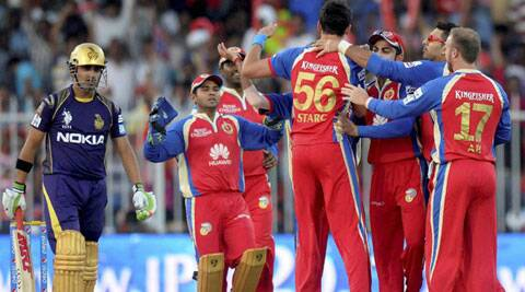 Kolkata Knight Riders captain Gautam Gambhir (L) is having a poor run with the bat in Pepsi IPL 2014 season. (PTI/BCCI)