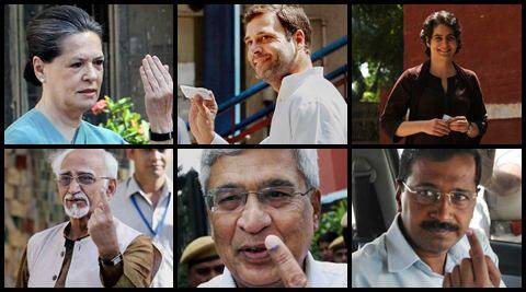 Sonia Gandhi, Arvind Kejriwal along with other ministers and political leaders cast their vote on Thursday.