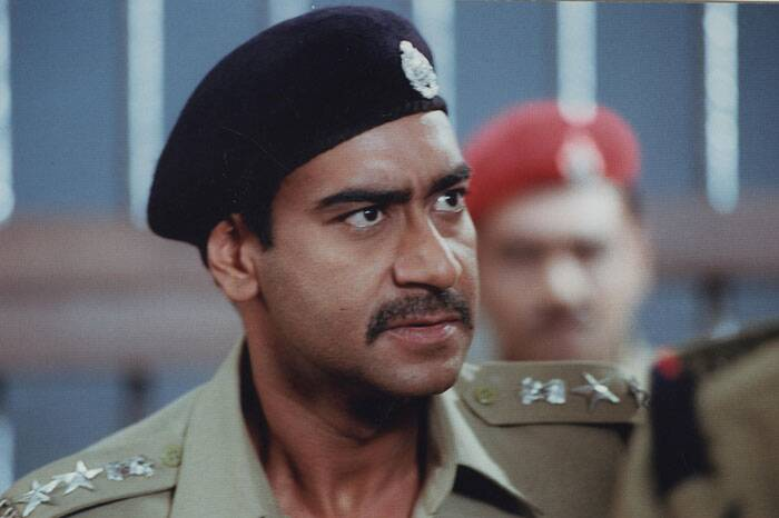 <b>Gangaajal(2003)</b>: Ajay Devgn played the role of a tough and fearless police officer Amit Kumar in Prakash Jha's award winning 'Gangaajal'. It is also considenred as one of the finest and powerful performances by Ajay Devgn.