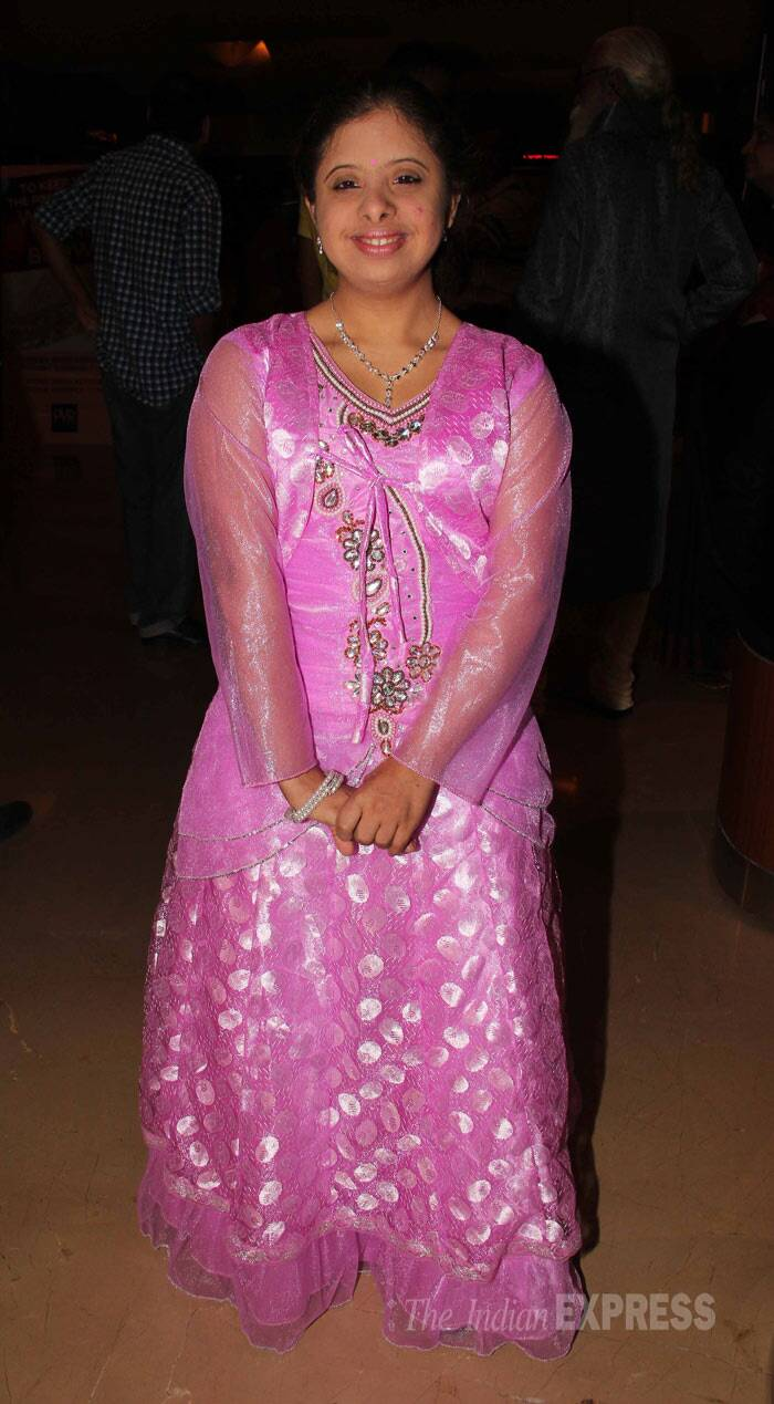 Gauri Gadgil, who marks her debut with 'Yellow', was pretty in pink. (Photo: Varinder Chawla)