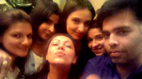 Karan Johar and superstar Shah Rukh Khan's wife Gauri Khan spent a fun Saturday night last week.