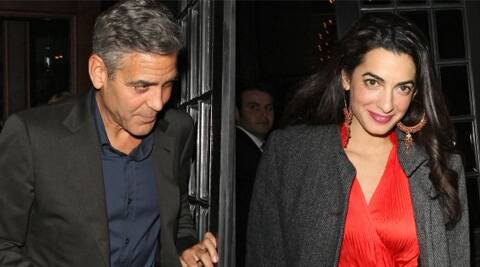 George Clooney and Alamuddin were first spotted together publicly in October last year.