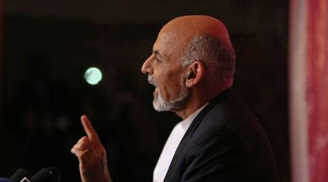 residential candidate Ashraf Ghani said that investigations into fraud could change the percentages before final results are due on May 14. (AP photo)