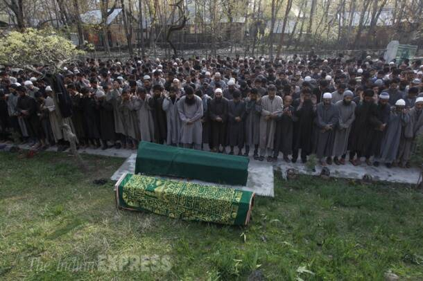 Villagers bid tearful adieu to slain sarpanch Ghulam Nabi Mir in Kashmir
