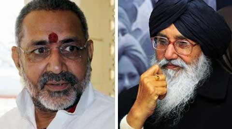 EC censured Giriraj Singh for his Pak remarks while it issued notice to Parkash Singh Badal for asking people to secretly fund his party.