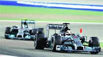 Lewis Hamilton pips Nico Rosberg in the battle of the Mercedes