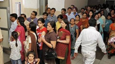Voters in the Gujarati dominated areas of Ghatkopar east of the Mumbai North East constituency, came out in large numbers. (PTI)