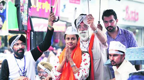 Gul Panag in Ludhiana on Thursday. (Photo: Gurmeet Singh)