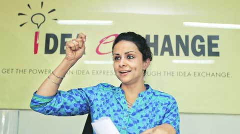 Gulkirat Kaur Panag during Idea Exchange on Thursday. (Jasbir Malhi)