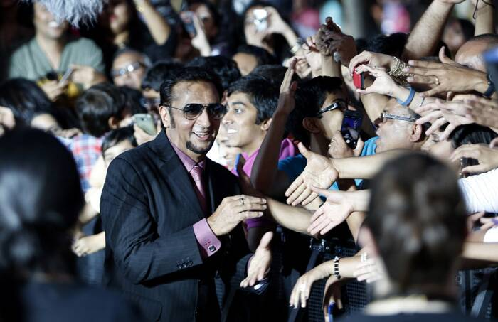 'Bad Man' Gulshan Grover interacts with his fans. (AP)