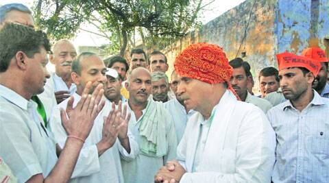 On the campaign trail in Gurgaon.Prem nath Pandey