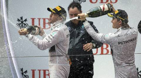 After just four races, Mercedes are 97 points ahead of Red Bull (AP)