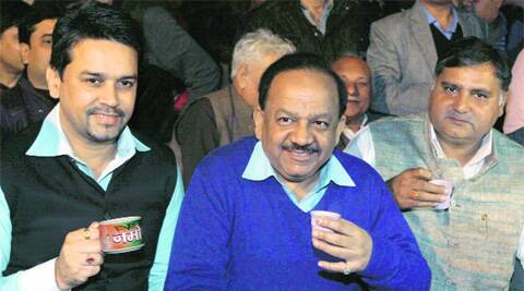 BJP's Delhi unit chief, Harsh Vardhan.