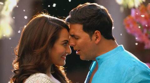 Akshay Kumar romances Sonakshi Sinha in the song.