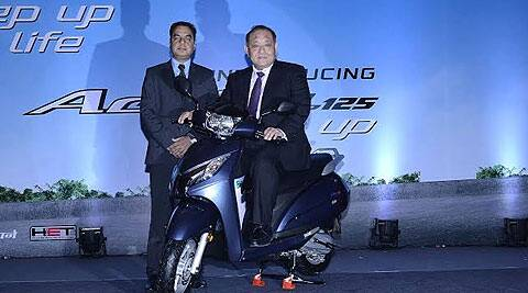 Honda officials at the launch of Active 125 automatic scooter in New Delhi.
