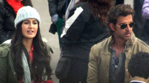 Hrithik Roshan and Katrina Kaif were spotted shooting in Shimla.