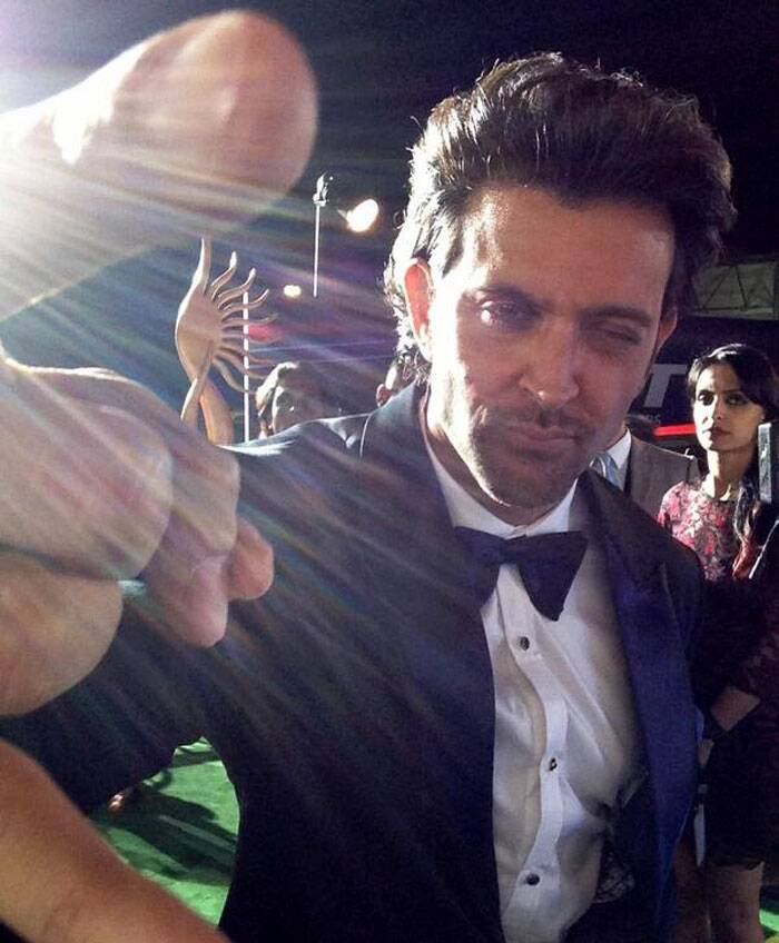 Hrithik Roshan looks all pumped up to party. (Twitter)