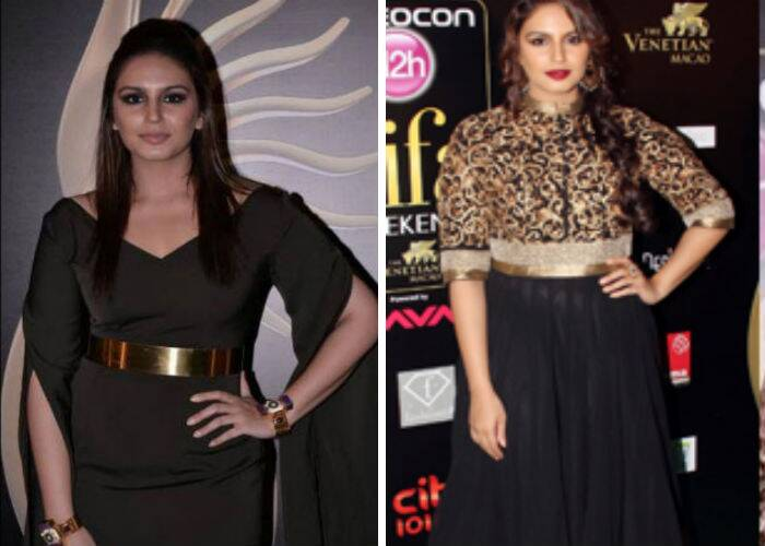 Like Parineeti, 'Dedh Ishqiya' actress Huma Qureshi also picked a black and gold belted outfit by Nikhil Thampi. A poker straight hairdo, smoky eyes and gold accessories finished off her look. The actress was a stunner at the IIFA Rocks that year in a SVA by Sonam and Paras Modi.