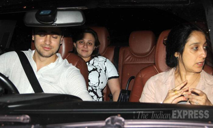 The couple was accompanied by Imran's mother, Nuzhat Khan. (Source: Varinder Chawla)