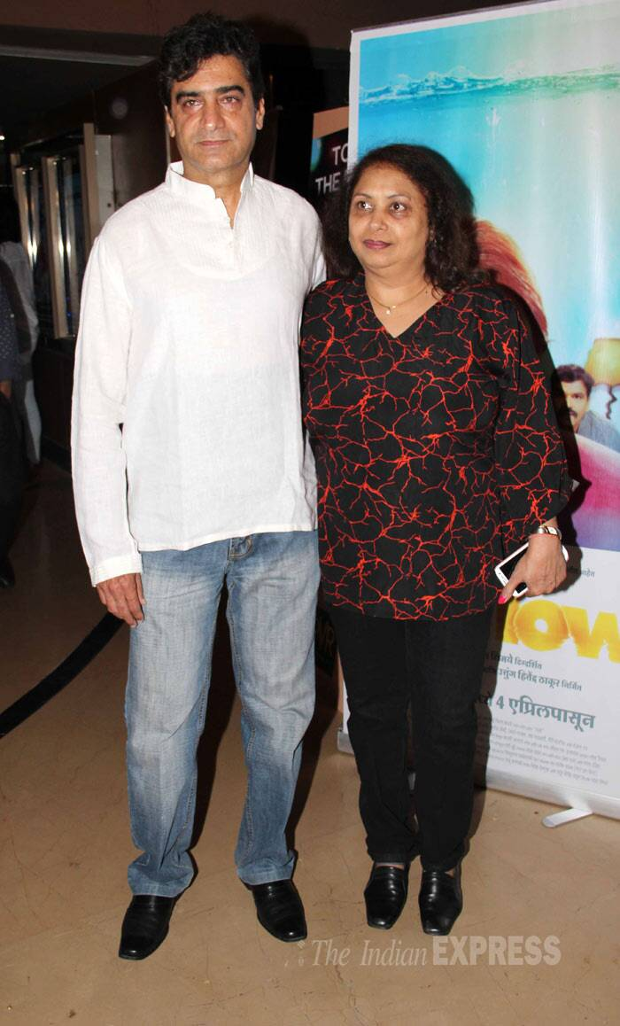 Director Inder Kumar arrived with wife Sonal. (Photo: Varinder Chawla)
