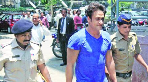 Inder Kumar outside a court in Bandra on Saturday.