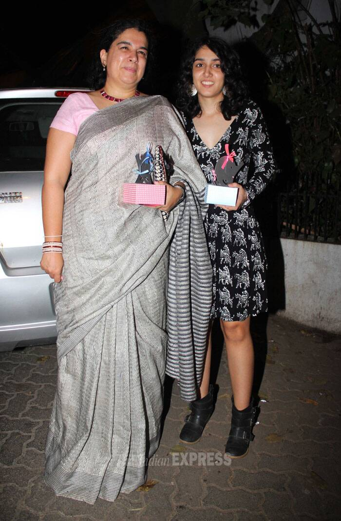Aamir Khan's teenage daughter Ira was also seen in a printed dress and boots. (Photo: Varinder Chawla)