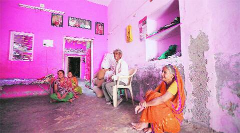 Jashodaben's cousin Kantibhai at their home in Varvada village. Javed Raja