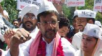 Jaaved Jaffrey during an election campain