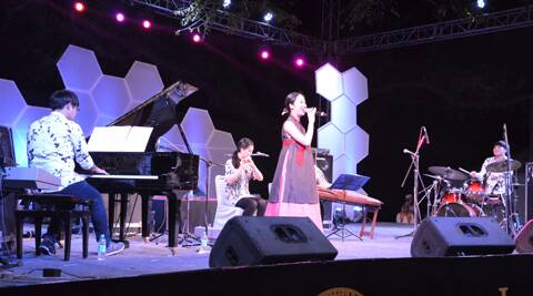 Modern Han playing at the Delhi Jazz Fest 2014 at Nehru Park. (Indian Express)