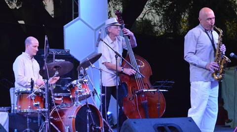 PJ Perry Trio playing at the DElhi Jazz Fest 2014 at Nehru Park. (Indian Express)