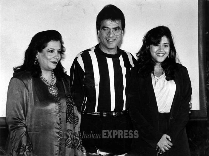 Jeetendra's active acting career was from 1960s to the 1990s. <br />Jeetendra with wife Shobhaa and daughter Ekta. (Express archive photo)