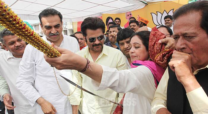 Anil Kapoor campaigns for Kirron Kher in Chandigarh