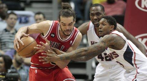 Bulls Joakim Noah scored 21 points against the Wizards (AP)