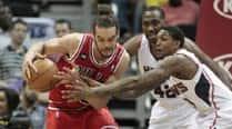 DJ spins it loud as Bulls trounce Wizards96-78