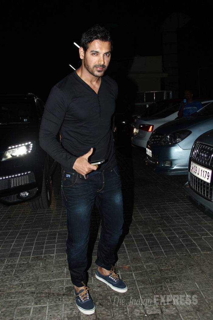 Actor John Abraham made a solo appearance sans wife Priya. (Photo: Varinder Chawla)