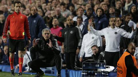 Chelsea's manager Jose Mourinho was fined a hefty sum by the English Football Association for 'improper conduct'. (AP)